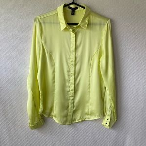 Forever 21 Polyester Lt.Yellow Blouse-Sz M